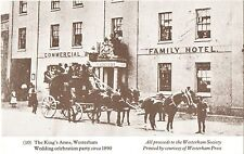 Postcard size Print-The Kings Arms,Westerham c1890(Commercial Family Hotel)