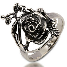 ROSE RING 925 STERLING SILVER Size.US=11 ,UK=V