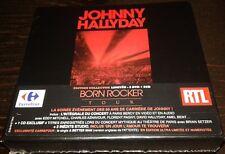 NEUF SCELLE JOHNNY HALLYDAY COFFRET COLLECTOR BORN ROCKER TOUR CARREFOUR