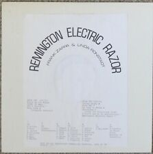 FRANK ZAPPA: Remington Electric Razor LP - not TMOQ