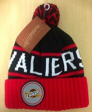 """NBA Cleveland Cavaliers Mitchell and Ness """"High 5"""" Cuffed Pom Knit Beanie Hat"""