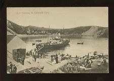 Dorset LULWORTH COVE SS Victoria unloading nice close up Used 1912 PPC by Seward