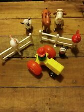 Vintage Fisher Price Little People Farm Lot
