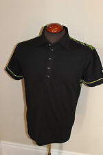 NEW MENS GALVIN GREEN GOLF POLO SHIRT MAVERICK BLACK GREEN MSRP $150