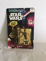 C3PO Star Wars Bend Ems JUSTOYS with limited edition Topps trading card 1993