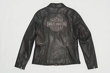 Harley Davidson Women Cycle Diva Swarovski Crystals Leather Jacket 98121-08VW XL