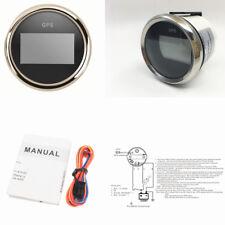 52mm 0-999 Knots Marine Boat Car Digital GPS Speedometer 800-00175 Black&Silver