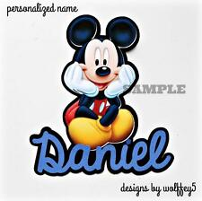 Craftecafe Disney U Choose Name paper piecing premade scrapbook diecut piece