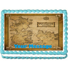 "Game of Thrones Map Edible Icing Image Cake topper Decoration -7.5""x10"""
