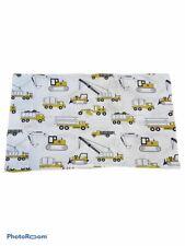 Land Of Nod Child Construction Bedding White Yellow Pillow Case Organic Cotton