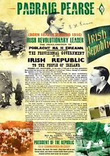 Padraig Pearse Easter 1916 Irish Proclamation A3 Poster in Irish/English