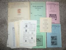 Collection of Old State Taxpaid Revenue Stamp Catalogs and Price Lists