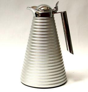 Alfi Achat Isolier Thermos Kanne,dezent mattsilber gerillt,Luxus Design Ikone