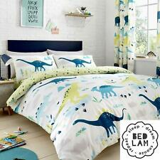 "Bedlam Childrens ""Dino"" Glow In the Dark Reversible Duvet Cover Bed Set Multi"