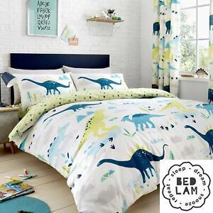"Bedlam Childrens ""Dino"" Glow In the Dark Reversible Duvet Cover Bed Set Multi"