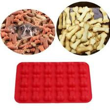 18 Cavity Dog Bone Silicone Muffin Pan Biscuit Cake Chocolate Baking Tray Mould
