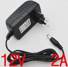 AC 100V-240V Converter Adapter DC 12V 2A Power Supply EU plug 5.5mm 2000mA 24W