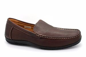 Chums Mens UK 12 Brown Synthetic Leather Casual Driving Loafer Slip On Shoes