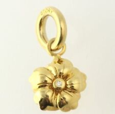 Genuine Story Gold Plated stone set Flower charm 5208819 RRP £59