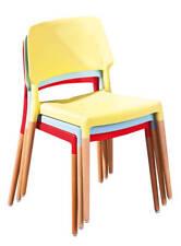 chaise >Tilde< rouge, pieds hêtre (lot de 4 pce)