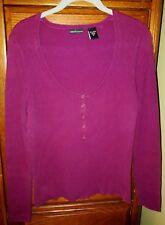 Moda International Knit Sweater Women's Size XL / X-Large Magenta Purple
