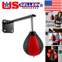 Wall-mounted Punching Bag Reflex Speed Bag With Reinforced Spring Boxing Ball