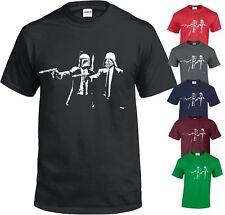 BANKSY Vader Pulp Fiction Star Wars Funny Gift Vintage Parody S-5XL T-Shirt Top
