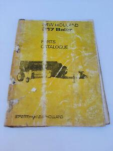 Vintage New Holland 317 Baler Parts Catalogue Manual