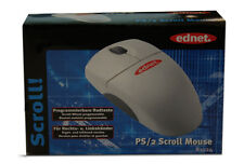 Ednet Scroll Mouse Maus P/S2 81024 Grau 520dpi OVP f. Links-/Rechtshänder