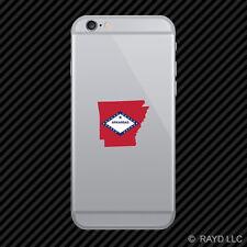Arkansas State Shaped Flag Cell Phone Sticker Mobile AR