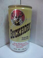 BUCKHORN beer can  Aluminum ~ 12oz  World Famous Buckhorn Beer Est. 1887