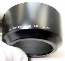 Minolta A 70-210mm f4.5-5.6 Auto Focus Maxxum SOny Plastic Lens Hood Shade