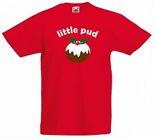 BIG PUD little pud adult child T-shirt combo Christmas gift personalised family