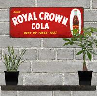 Royal Crown RC Cola Bottle Soda Man Cave Garage Shop Sign 6x12 60682