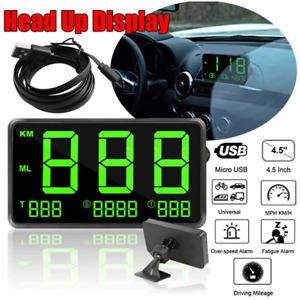 "4.5"" Digital Car GPS Speedometer HeadUp Display Overspeed MPH/KM/H Warning Alarm"