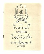 RARE/SIGNED BY 43 ARP MEN OF O DIVISION/STRAND HOTEL 1939 MENU/BLITZ/AIRCRAFT