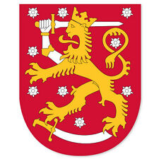 "FINLAND Coat of Arms bumper sticker decal 3"" x 5"""