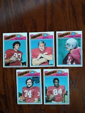 5 Card Lot of 1977 Topps St. Louis Cardinals Football Cards!