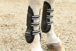 EquiFit Original Open Front Boot & Tendon Boot Set Black - Size Large Pre Owned