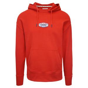 Tommy Hilfiger Men's Deep Crimson TJM Patch Logo L/S Pull Over Hoodie