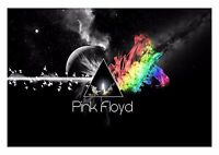 ABSTRACT DARK SIDE OF MOON PINK FLOYD MUSIC WALL ART CANVAS PRINT VARIOUS SIZES