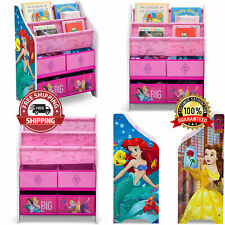 Children Storage Organizer Disney Kids Princess Bookcase Girls Bedroom Toy Box