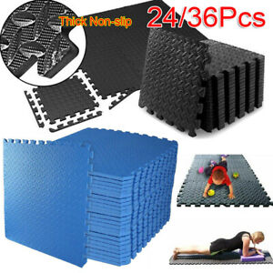 Interlocking Soft Foam Floor Mats 60 x 60 Gym Flooring Mat Fitness Gymnastics UK