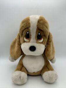 Vintage 80's Applause Giordano Sad Sam Plush Stuffed Animal Puppy Dog