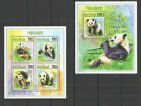 ST1246 42013 GUINEA-BISSAU ANIMALS FAUNA GIANT PANDA KB+BL MNH STAMPS