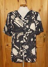 1MAX lack cream beige sheer chiffon short sleeve blouse tunic top 10 38