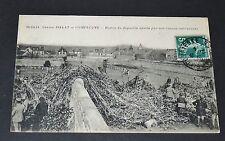 CPA 1917 AVIATION ZEPPELIN ABATTU COMPIEGNE GUERRE 14-18
