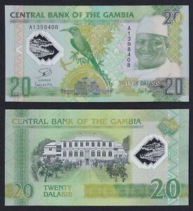 Gambia 20 dalasis 2014 (Polymer) FDS/UNC   B-04
