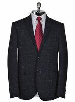 ETRO Milano New Jersey Slim Fit Leggera Donegal Sportcoat 44 Regular Navy $1,430