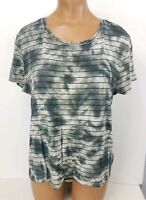 American Eagle Soft And Sexy T Shirt Striped Tie Dye Tee Womens Sz Large L